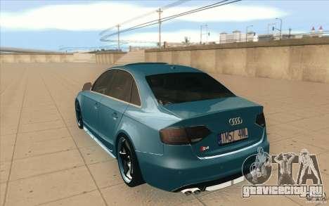 Audi S4 2009 для GTA San Andreas вид сзади слева
