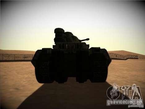 Tанк из игры TimeShift для GTA San Andreas вид справа