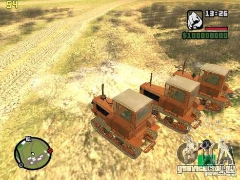 Трактор ДТ-75 Почтальон для GTA San Andreas вид справа