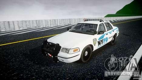 Ford Crown Victoria v2 NYPD [ELS] для GTA 4