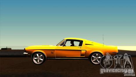 Shelby GT500KR для GTA San Andreas вид слева