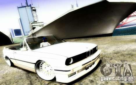 BMW E30 M3 Cabrio для GTA San Andreas вид сбоку
