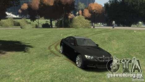 BMW M3 для GTA 4 вид сзади слева
