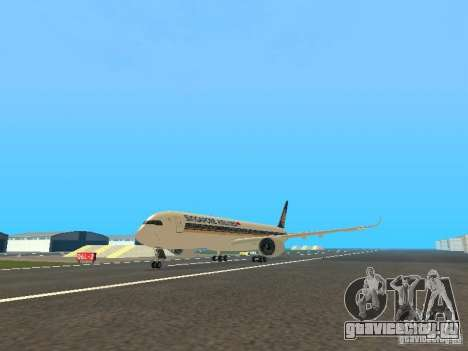 Airbus A350-900 Singapore Airlines для GTA San Andreas