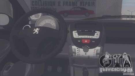 Peugeot 107 2011 для GTA San Andreas вид сзади слева