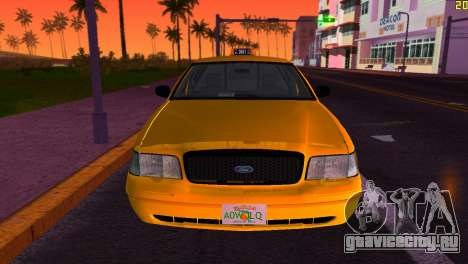 Ford Crown Victoria Taxi 2003 для GTA Vice City вид сзади