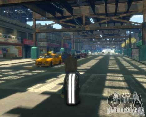Мотоцикл из Трон (серый неон) для GTA 4 вид сзади слева