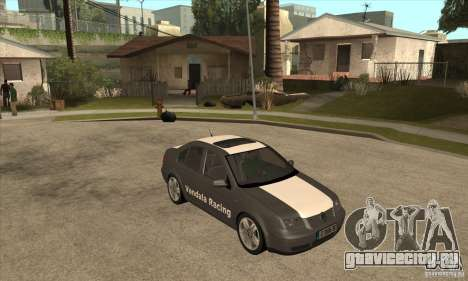 Volkswagen Bora VR6 2003 для GTA San Andreas вид сзади