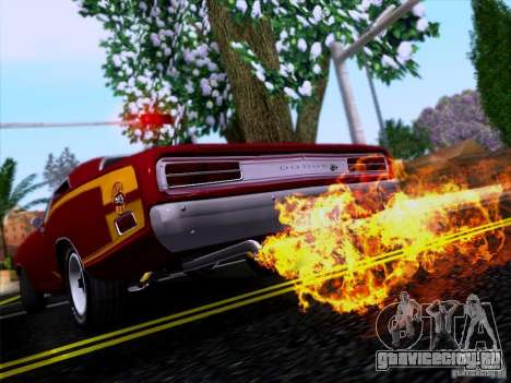 Dodge Coronet Super Bee v2 для GTA San Andreas вид изнутри