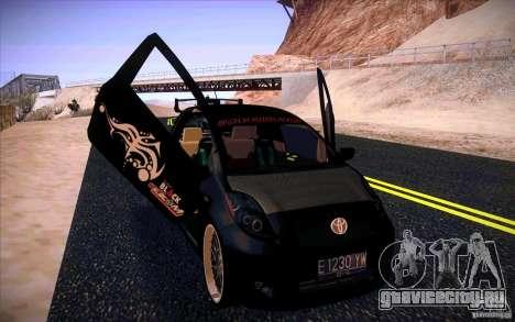 Toyota Yaris для GTA San Andreas вид справа