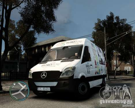 Euro 2012 Bus Mercedes Sprinter для GTA 4