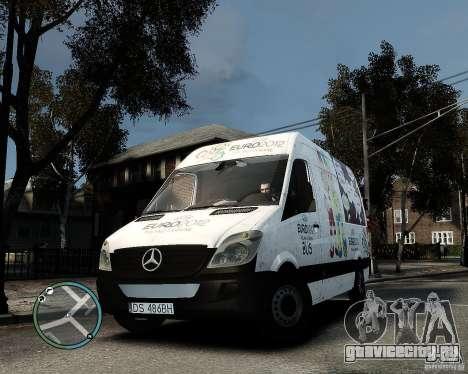 Euro 2012 Bus Mercedes Sprinter для GTA 4