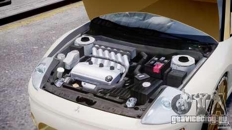 Mitsubishi Eclipse GTS Coupe для GTA 4 вид изнутри