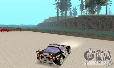 Chevrolet Corvette C6 Рядовой (NFS MW) для GTA San Andreas вид справа
