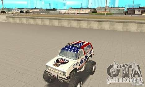 Chevrolet Blazer K5 Monster Skin 7 для GTA San Andreas вид слева