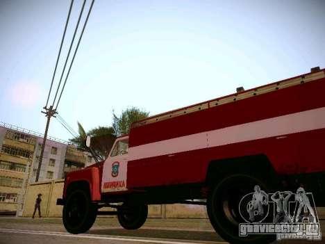 ГАЗ 53 АЦУ-30 Пожарная для GTA San Andreas вид сзади