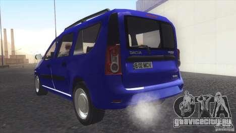 Dacia Logan MCV Facelift для GTA San Andreas вид слева