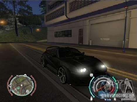 Toyota Supra 2006 Most Wanted для GTA San Andreas вид сзади слева