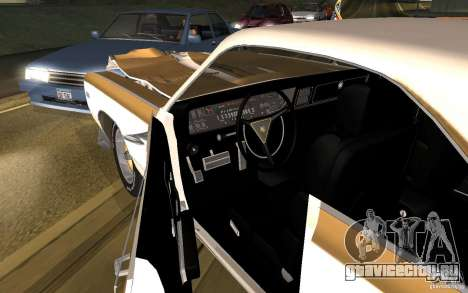 Chrysler 300 Hurst 1970 для GTA San Andreas вид изнутри