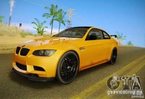 BMW M3 GT-S Final для GTA San Andreas вид изнутри