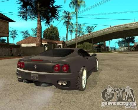 Ferrari 360 modena TUNEABLE для GTA San Andreas вид сзади слева