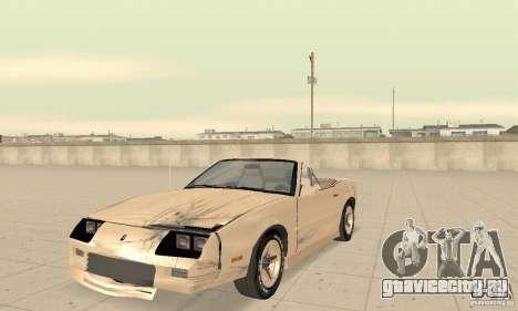 Chevrolet Camaro RS 1991 Convertible для GTA San Andreas вид сверху