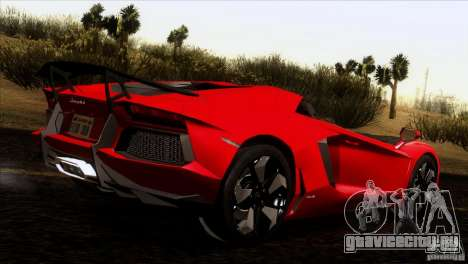 Lamborghini Aventador LP-700 J для GTA San Andreas вид изнутри