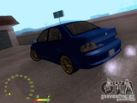 Mitsubishi Lancer EVO BETA для GTA San Andreas вид слева