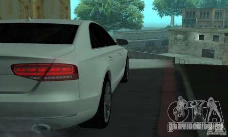 Audi A8 для GTA San Andreas вид изнутри