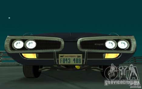 Dodge Coronet Super Bee 1970 для GTA San Andreas вид слева