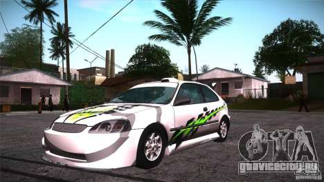 Honda Civic Tuneable для GTA San Andreas колёса