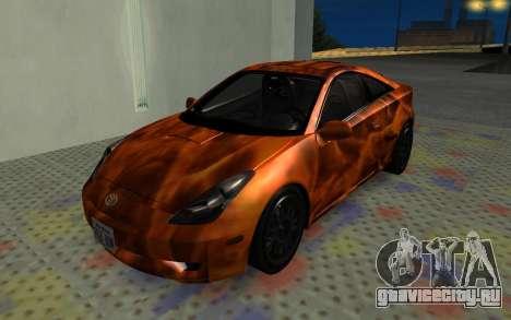 Toyota Celica 2JZ-GTE для GTA San Andreas вид изнутри