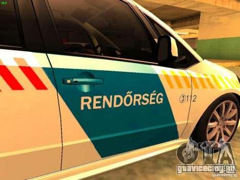Suzuki SX-4 Hungary Police для GTA San Andreas вид сзади