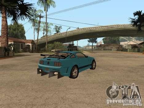 Ford Mustang GT 500 для GTA San Andreas вид сзади слева