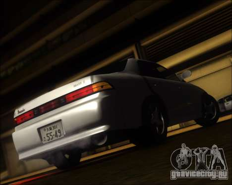 Toyota Mark II GX90 v.1.1 для GTA San Andreas вид сзади слева