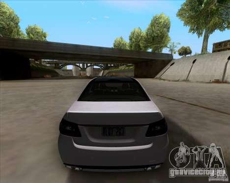 Mercedes-Benz E63 AMG V12 TT Black Revel для GTA San Andreas вид сзади