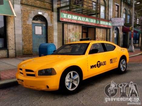 Dodge Charger NYC Taxi V.1.8 для GTA 4 вид сзади слева