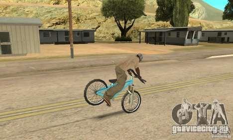 Dirt Jump Bike для GTA San Andreas вид изнутри