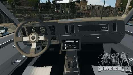 Buick GNX 1987 для GTA 4 вид сзади