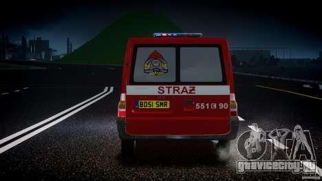 Ford Transit Polish Firetruck [ELS] для GTA 4 вид снизу