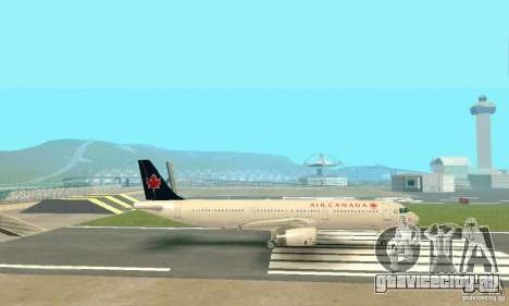 Airbus A321 Air Canada для GTA San Andreas вид изнутри