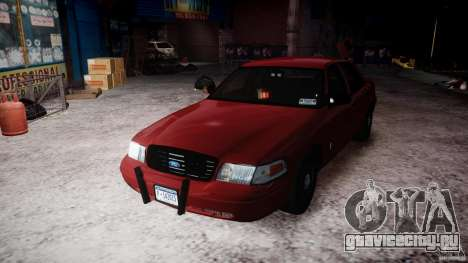 Ford Crown Victoria Detective v4.7 red lights для GTA 4 вид сбоку