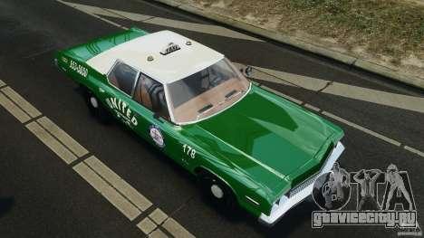 Dodge Monaco 1974 Taxi v1.0 для GTA 4 колёса