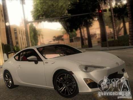 Toyota GT86 2012 для GTA San Andreas вид изнутри