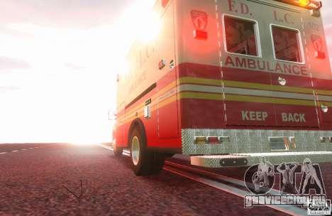 Ford F350 FDLC Ambulance v3.0 ELS для GTA 4 вид сзади слева