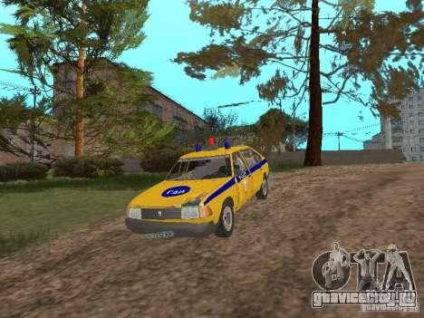 АЗЛК 2141 ГАИ для GTA San Andreas вид изнутри