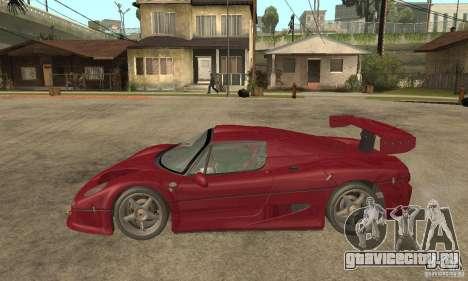 Ferrari F50 GT (v1.0.0) для GTA San Andreas вид слева