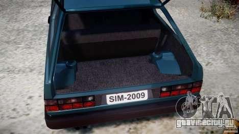 Volkswagen Gol GL для GTA 4 вид изнутри