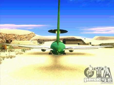 Boeing E-767 для GTA San Andreas вид сзади слева