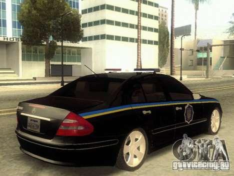 MERCEDES BENZ E500 w211 SE Police Украина для GTA San Andreas вид слева